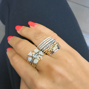 Diamond stacker rings