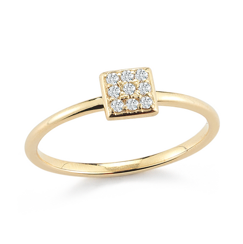 diamond pave stacker ring