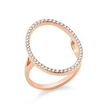 Load image into Gallery viewer, Rose gold oval ring