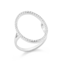 Load image into Gallery viewer, White gold oval ring