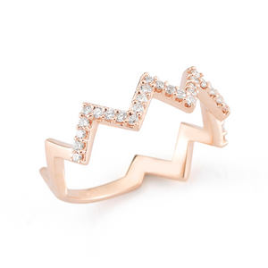 Rose gold em ring