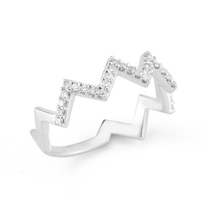 white gold stacker ring