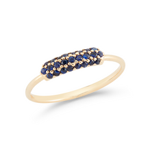 Load image into Gallery viewer, 14k sapphire stacker ring