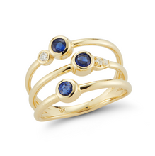 Load image into Gallery viewer, sapphire portia ring