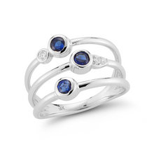 Load image into Gallery viewer, sapphire white gold ring