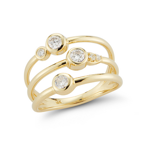 Diamond portia ring yellow