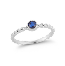 Load image into Gallery viewer, white gold sapphire nico