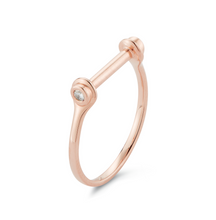 Load image into Gallery viewer, diamond paloma ring rose