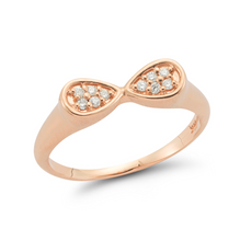 Load image into Gallery viewer, Diamond simone ring rose