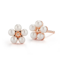 Load image into Gallery viewer, rose gold flower earring
