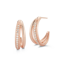 Load image into Gallery viewer, rose gold geneva earrings