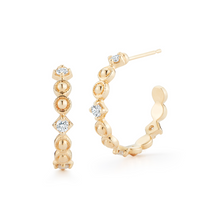 Load image into Gallery viewer, Diamond Greta hoops