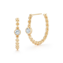 Load image into Gallery viewer, Diamond dani hoops