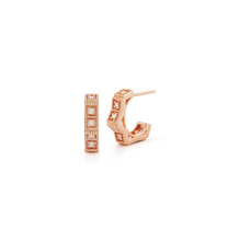 Load image into Gallery viewer, rose gold Diamond Keaton Earrings
