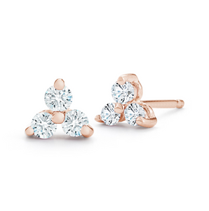diamond rose rio earrings