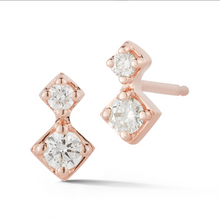 Load image into Gallery viewer, diamond vix earrings