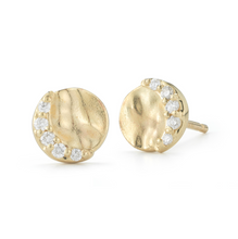 Load image into Gallery viewer, Diamond Tilda Earring yellow