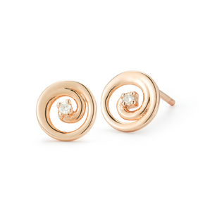 diamond tilda rose earrings