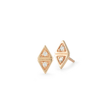 Load image into Gallery viewer, diamond maddie earrings rose