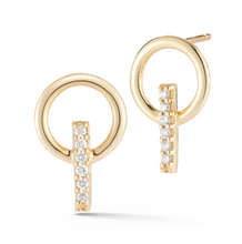 Load image into Gallery viewer, diamond elson earrings yellow