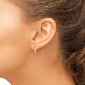 elson earrings on model