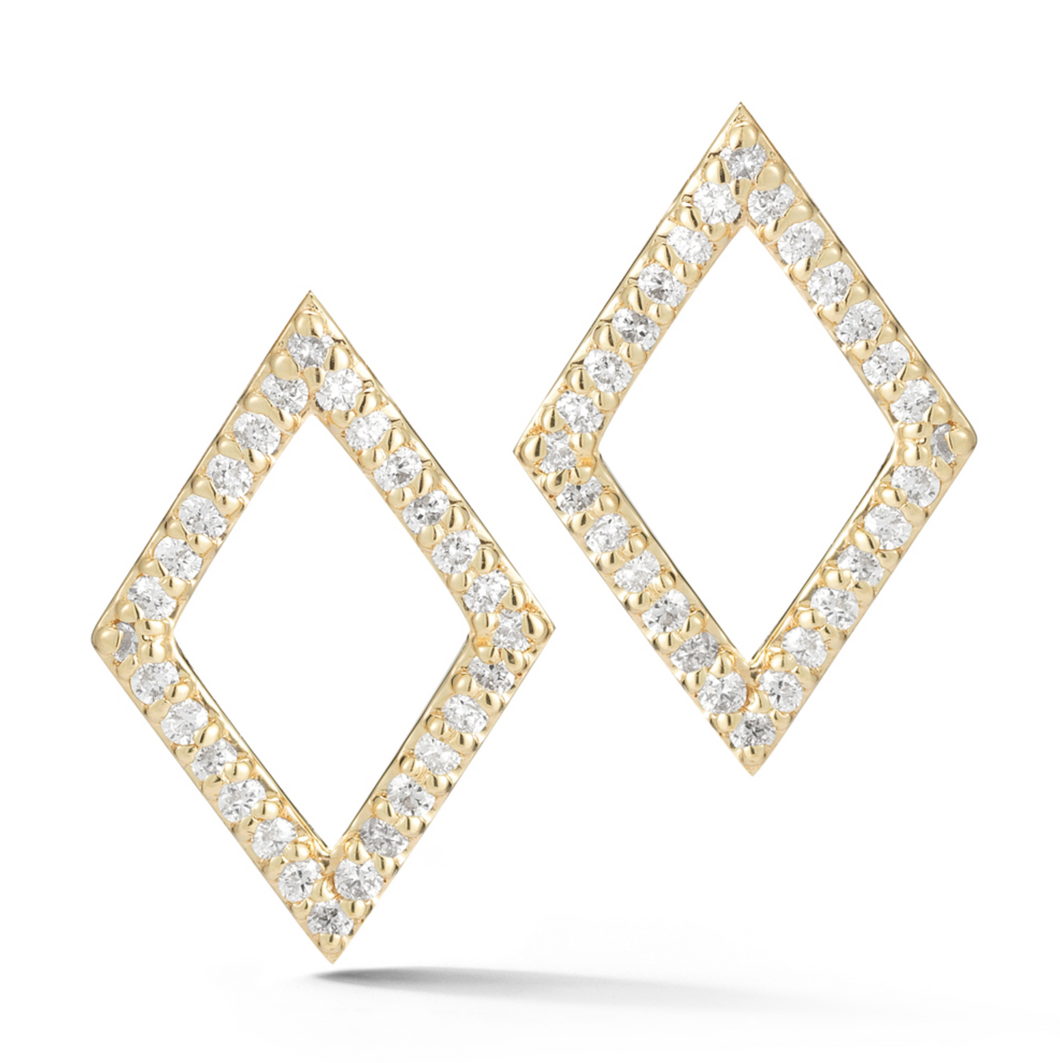 DIAMOND PRISM EARRINGS