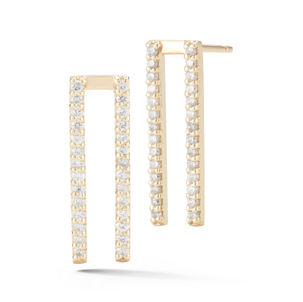 diamond bella earrings