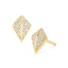 Load image into Gallery viewer, Diamond knight yellow earrings