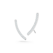 Load image into Gallery viewer, Diamond Curve earrings
