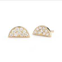 Load image into Gallery viewer, Diamond luna earrings
