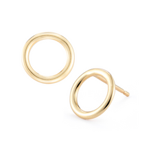 Load image into Gallery viewer, Gold Omega Earrings