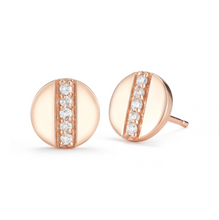 Load image into Gallery viewer, Rose gold token earrings