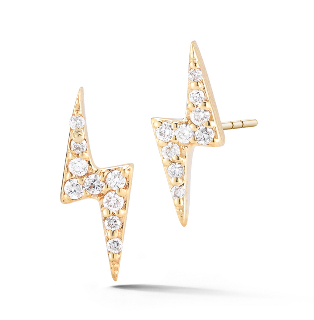 Bolt Diamond Earrings