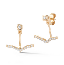 Load image into Gallery viewer, Diamond London ear jackets