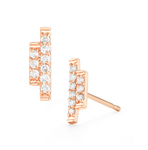 Load image into Gallery viewer, diamond sidebar earrings