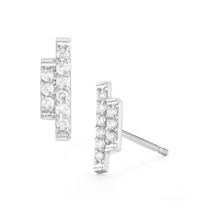 Diamond sidebar earrings