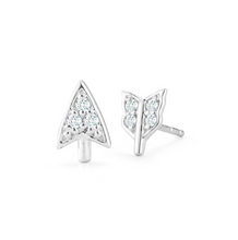 Load image into Gallery viewer, broken arrow earring white gold