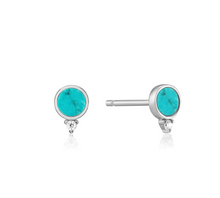 Load image into Gallery viewer, Silver Turquoise Stud Earrings