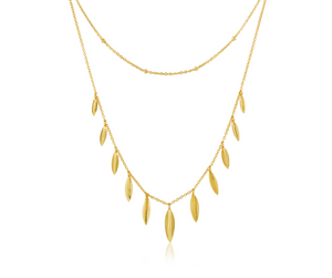Gold Leaf Double Necklace