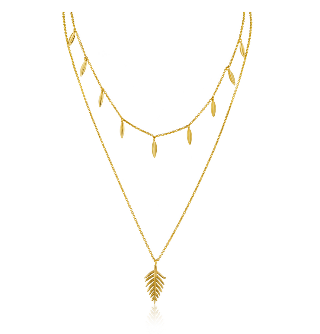 Gold Tropic Double Necklace