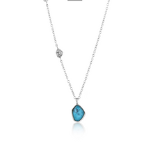 Load image into Gallery viewer, Turquoise Pendant Silver Necklace