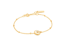 Load image into Gallery viewer, Gold Mother Of Pearl Disc Bracelet