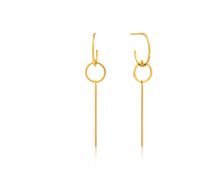 Load image into Gallery viewer, Gold Modern Solid Drop Earrings