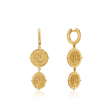 Load image into Gallery viewer, Gold Axum Mini Hoop Earrings