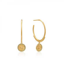 Load image into Gallery viewer, Gold Emperor Hoop Earrings