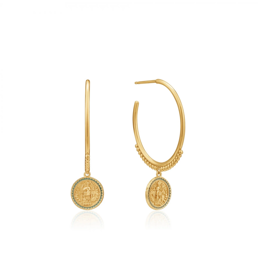 Gold Emperor Hoop Earrings