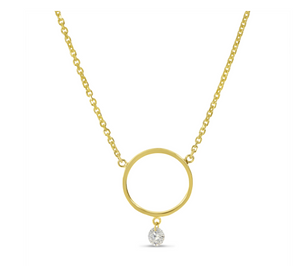 Dashing Diamonds Circle Necklace
