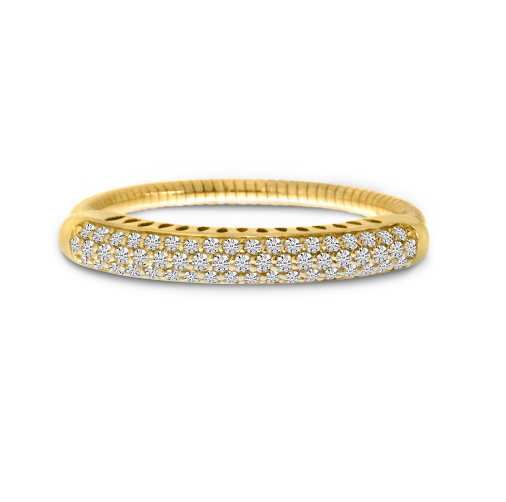 Spryngs Diamond Pave Stretch Ring