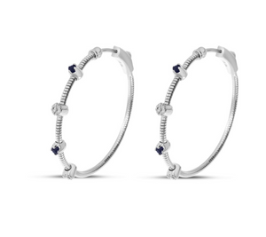 Precious Diamond Flex Hoops