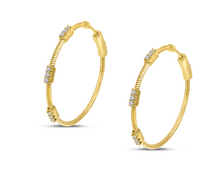 Load image into Gallery viewer, Diamond Flex Hoop Earrings